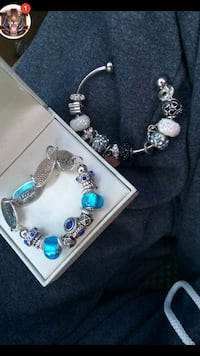silver and blue beaded bracelet Cottondale, 35453