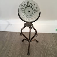 Tea light candle stand with glass Sun