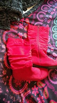 pair of red suede boots Saint John, E2M 3B2