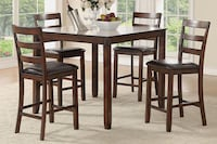 5 piece Counter Height Dining Kitchen Table Set Riverside
