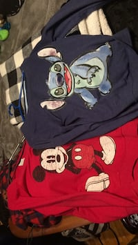 Blue and red mickey mouse/stitch print crew neck shirt Charlemagne, J5Z 1E4