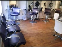 two gray and purple salon chairs Olney, 20832