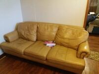 brown leather 3-seat sofa Rogersville, 37857