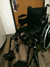 black and gray folding wheelchair Indianapolis, 46214