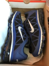 Blue black and silver... size 10 1/2