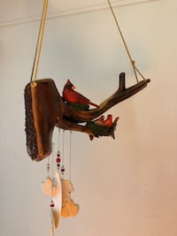 Bird on branch wind chime