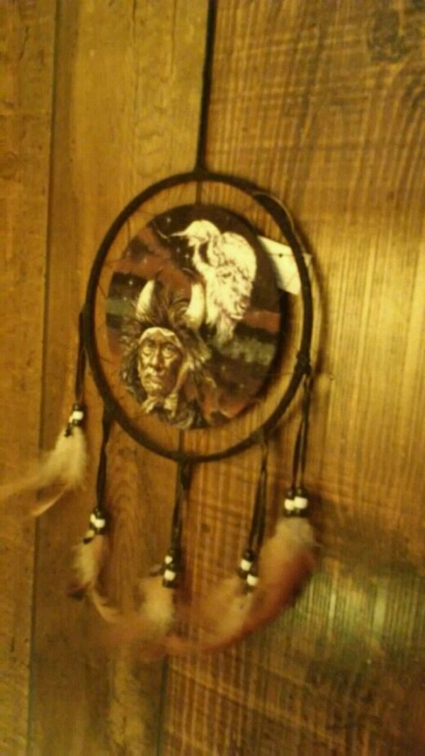 brown and white dream catcher