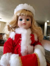 Christmas Porcelain doll 16 inch