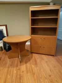 Bookcase filing cabinet and table Mississauga, L5W 1B1