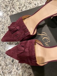 Brand New J Crew High Heels Purple Authentic US Size 8.5