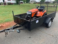 5x10 trailer and a like new ariens 42 inch riding mower