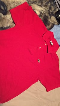 Red lacoste polo shirt s - m