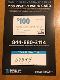 Free 100 visa card when you order Direct tv Lafayette, 70503