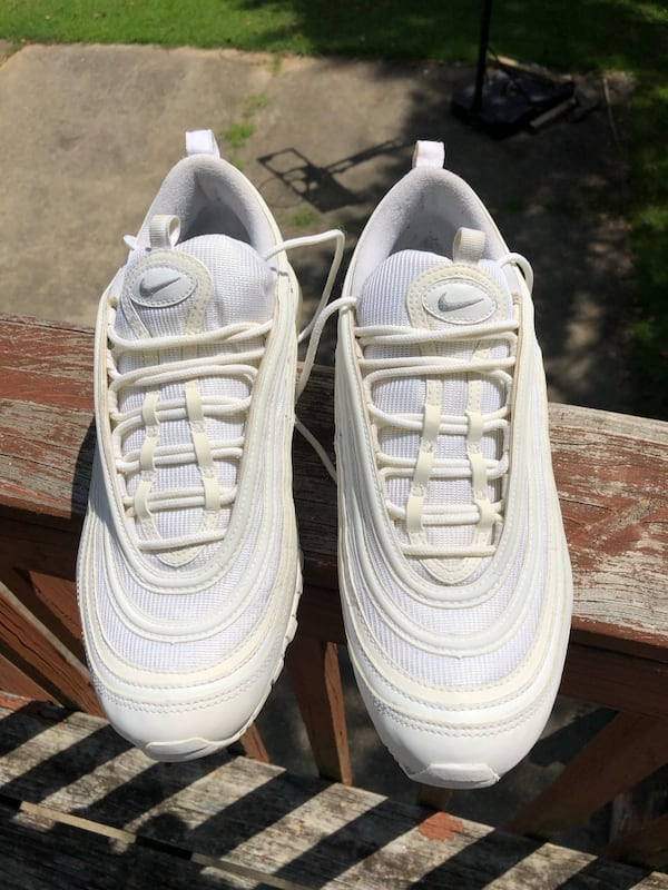Used Nike Airmax 97 Triple White Reflective For Sale In Powder