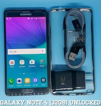 Galaxy Note 4 (32GB) GSM-UNLOCKED + Accessories Arlington