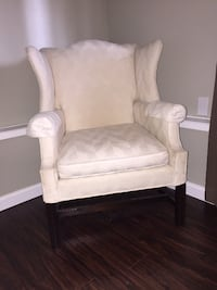 Off White Wing Back Chairs X 2 PORTLAND