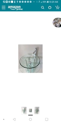 round clear glass table decor
