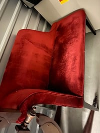 Red longe chaise