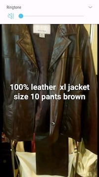 woman brown leather jacket and pants Simpsonville, 29681