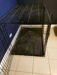 black metal folding dog crate Chicago