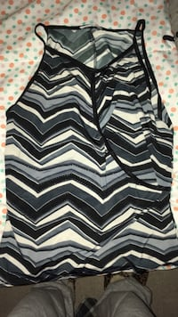 black and white chevron print cardigan 550 km