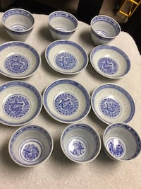 Assorted-color ceramic dinnerware set- PENDING  Edmonton, T6E 0N9