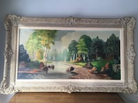Delivery - antique oil painting in amazing wooden frame  Toronto, M9B 3C6