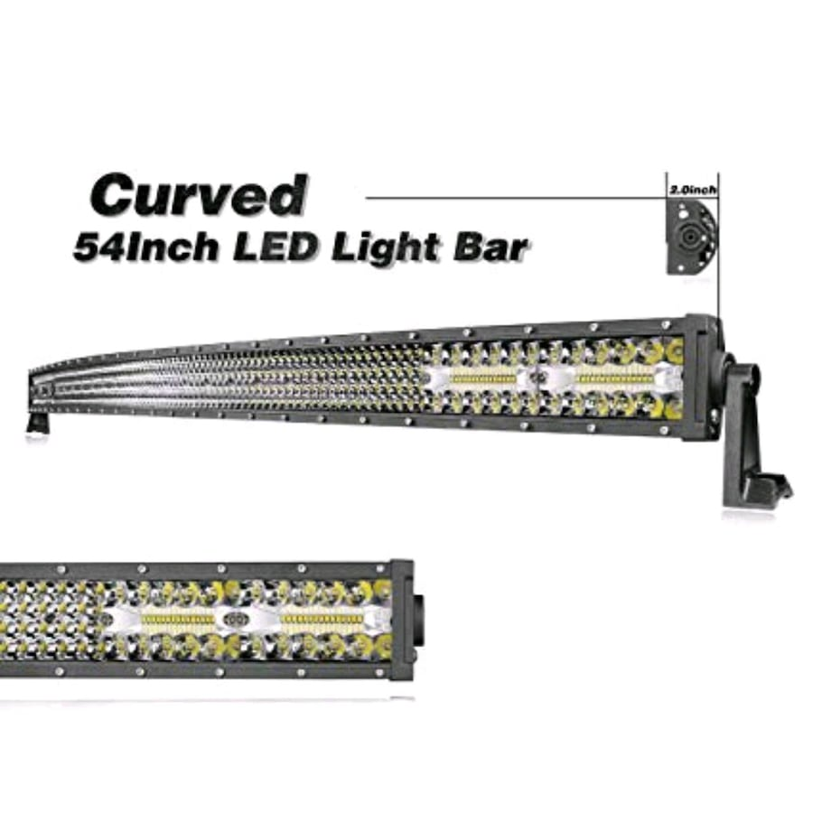 """54"""" curved led light bar new with mounts - Universal"""