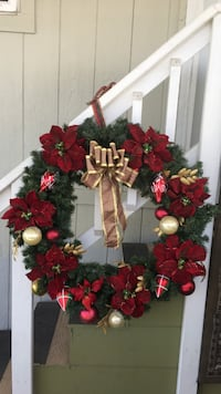 red and green floral wreath West Covina, 91792