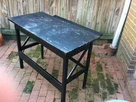 Versatile and Collapsible Crate & Barrel Desk/Side Table