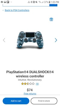 Blue Camouflaged ps4 controller! Pratically brand new Condition!
