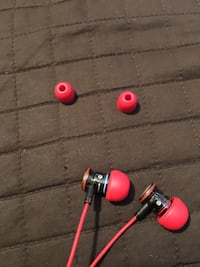 Red and black beats by dr. dre earphones Calgary, T3A 5V1