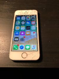 Gold iPhone 5s cracked screen