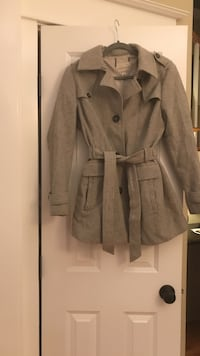 Gray button-up trench coat Denver, 80206