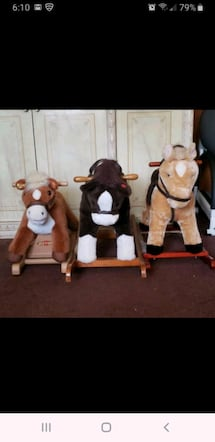 3 ROCKING HORSES$10 each 3 for $25