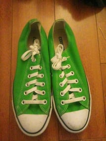pair of green Converse All Star low top sneakers
