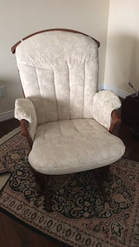 white and brown floral padded armchair Vaughan, L4L 4A4