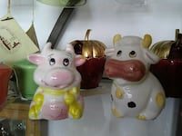 two pink and white cow figurines Crescent City, 95531