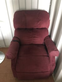 red fabric padded sofa chair Edmonton, T5A 5A8