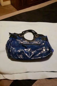 Purse....Navy/black, never used Vaughan