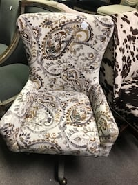 white and brown floral armchair Indianapolis, 46268