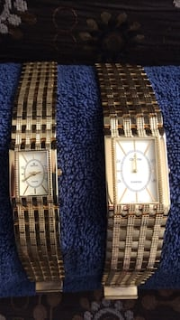 Gold tone Croton watches diamond his and hers Kelowna, V1Y 3G3