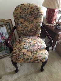 brown wooden framed floral padded armchair College Park, 20740
