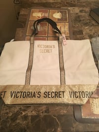white and black Victoria's Secret tote bag Alexandria, 22306