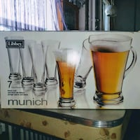 Libbey Beer Set 6 Pint Glasses and Pitcher  New still in box Toronto, M6N 3S4
