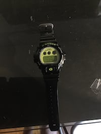 Black and Green G-Shock