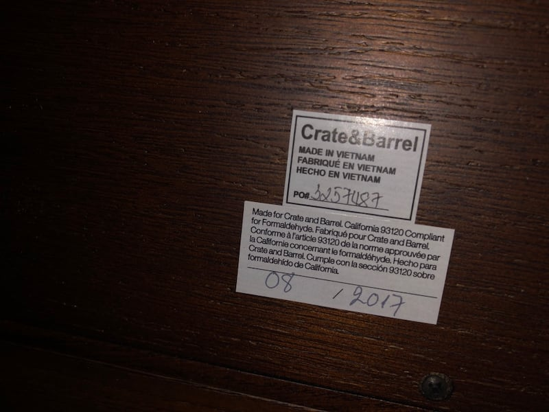 Crate and barrel entertainment center 4