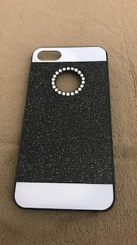 White and black glittered iphone 7 case