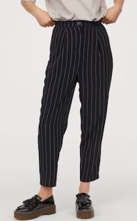 H&M black/white striped trousers  Toronto, M4H 1L7