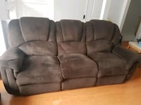 3 seats brown sofa recliners  Mississauga, L5M 6E8